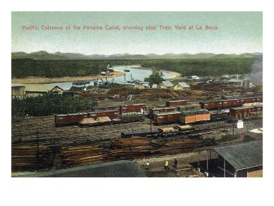 Panama - Pacific Entrance to Canal, La Boca Train Yard View