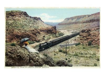Arizona - Santa Fe Train in Crozier Canyon