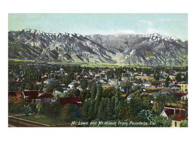 Pasadena, California - View of Mt. Lowe and Mt. Wilson