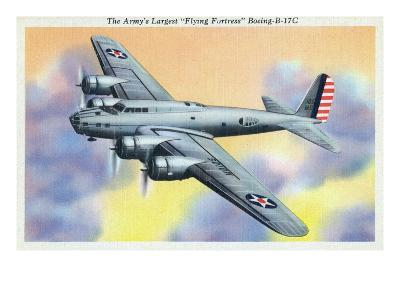 View of the Flying Fortress Boeing B-17C Plane