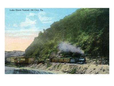 Oil City, Pennsylvania - Train Exiting Lake Shore Tunnel
