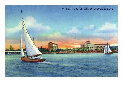 Bradenton, Florida - Sailboat on Manatee River