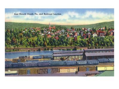 Jim Thorpe, Pennsylvania - View of East Mauch Chunk and Rr Junction