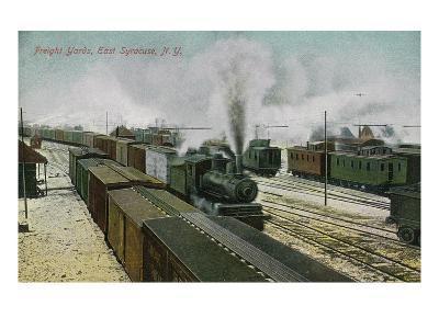 East Syracuse, New York - Train Freight Yards Scene