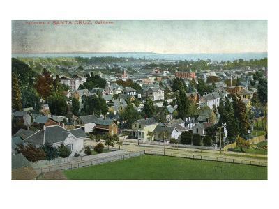 Santa Cruz, California - Panoramic View of Town