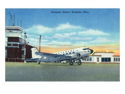 Rochester, Minnesota - Northwest Airplane at Rochester Airport