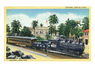 Cristobal, Panama - Train Passing Through the Canal Zone