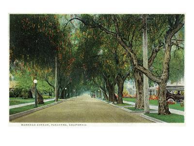 Pasadena, California - View Down Marengo Avenue