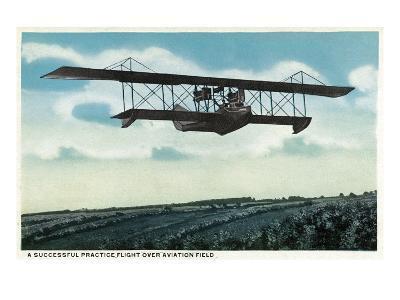 Successful Practice Flight over a Aviation Field