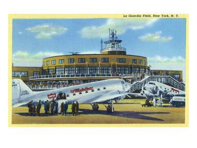 New York City, New York - La Guardia Field with Parked Planes