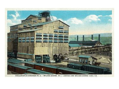 Wilkes-Barre, Pennsylvania - Trains at Lehigh and Wilkes-Barre Coal Company
