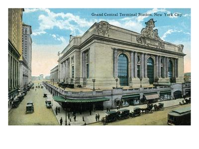 New York City, New York - Exterior View of Grand Central