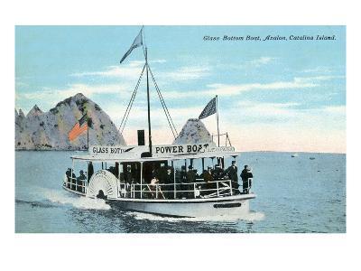 Santa Catalina Island, California - Glass Bottom Boat on Avalon Bay