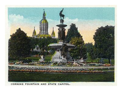 Hartford, Connecticut - Bushnell Park Corning Fountain