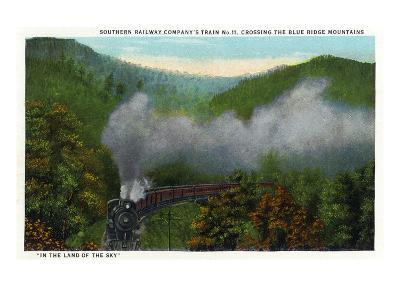 Blue Ridge Mountains, North Carolina - Southern Rail Co Train Scene