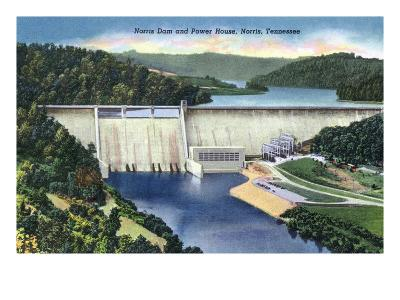 Norris, Tennessee - View of Norris Dam and the Power House