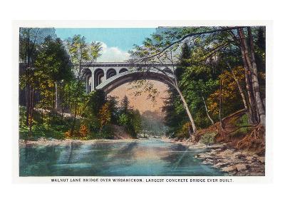 Philadelphia, Pennsylvania - Walnut Lane Bridge over Wissahickon River
