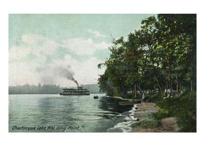 Chautauqua Lake, New York - Long Point View of Steamer