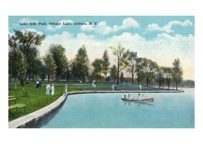 Auburn, New York - Owasco Lake, View of Lakeside Park