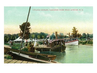 Auburn, New York - Owasco Outlet at Lakeside Park