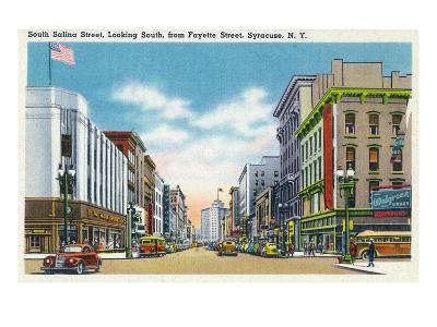 Syracuse, New York - South View Down Salina St from Fayette St