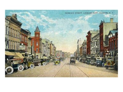 Auburn, New York - Eastern View Down Genesee Street