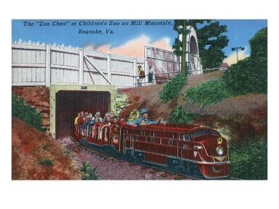 Roanoke, Virginia - Mill Mountain Children's Zoo Train the Zoo Choo