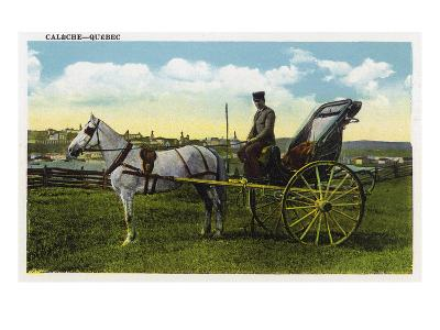Quebec, Canada - View of a Horse Carriage