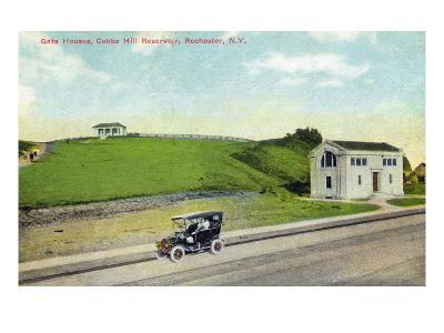 Rochester, New York - Cobbs Hill Reservoir Gate Houses View
