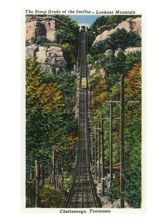 Chattanooga, Tennessee - General View of the Lookout Mountain Incline