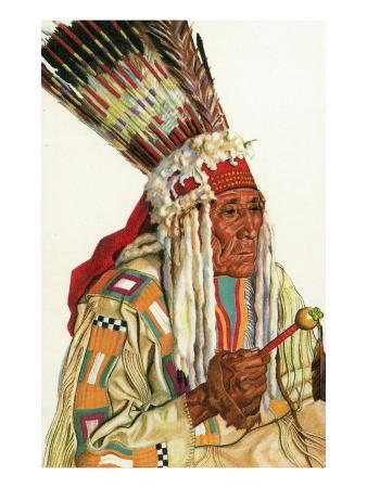 Portrait of Angry Bull, a Blackfeet Man