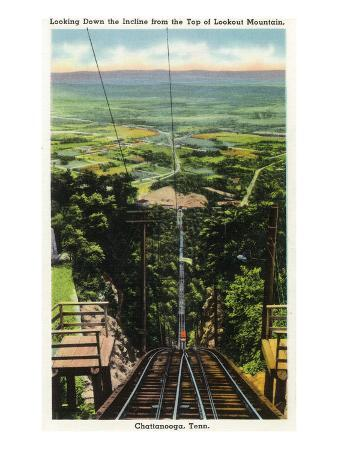 Lookout Mountain, Tennessee - View of Chattanooga from the Top of the Incline Rail