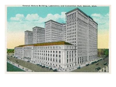 Detroit, Michigan - General Motors Bldg, Lab, and Convention Hall Exterior