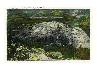 Stone Mountain, Georgia - Aerial View of the Mountain