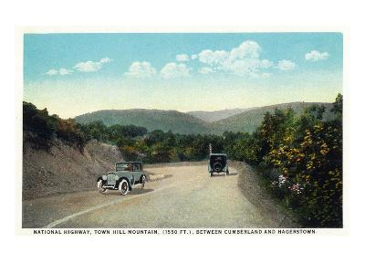 Town Hill Mountain, Maryland - National Road Between Cumberland and Hagerstown