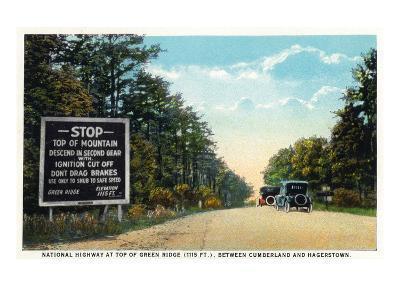 Green Ridge, Maryland - National Road at Summit Scene