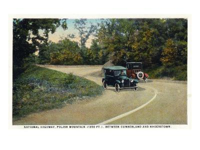 Polish Mountain, Maryland - National Road Between Cumberland and Hagerstown