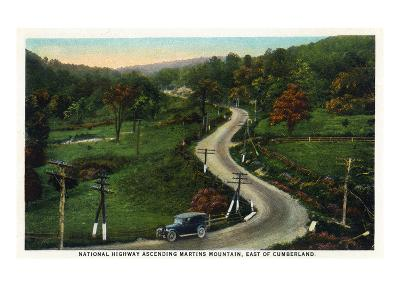Martins Mountain, Maryland - National Road Scene East of Cumberland