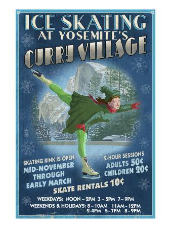 Curry Village Ice Skater - Yosemite National Park, California