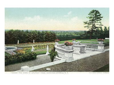 Saratoga Springs, New York - View from the Yaddo Rose Garden Terrace