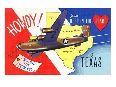 Texas - B-24 Howdy, Bound for Tokyo WWII Promo