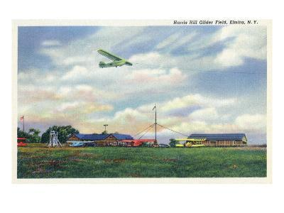 Elmira, New York - Glider Plane Leaving Harris Hill Field