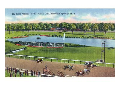 Saratoga Springs, New York - View of the Race Track Finish Line