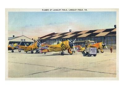 Langley Field, Virginia - View of Planes Getting Serviced