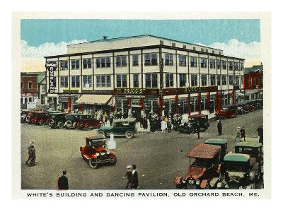 Old Orchard Beach, Maine - White's Building and Dancing Pavilion