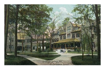 Saratoga Springs, New York - St. Christiana School and Grounds