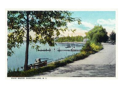Saratoga Springs, New York - View of Point Breeze at Saratoga Lake