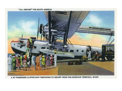 Miami, Florida - Boarding Scene at Pan-American Terminal