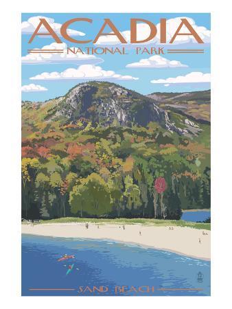 Acadia National Park, Maine - Sand Beach Scene