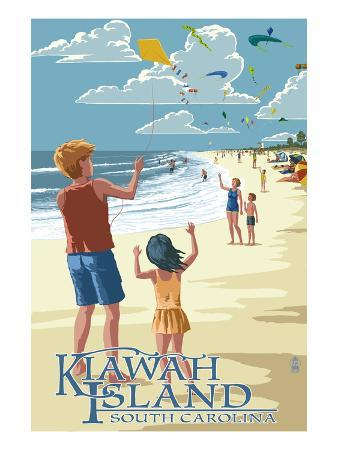 Kite Flyers - Kiawah Island, South Carolina